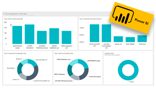 Business Central rapporter fra Power BI
