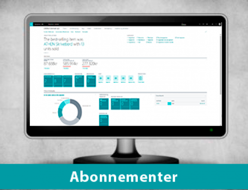 Styring af abonnementer i Dynamics 365 Business Central